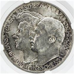 SAXE-WEIMAR-EISENACH: William Ernest, 1901-1918, AR 3 mark, 1910-A