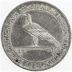GERMANY: AR 3 reichsmark, 1930-A. AU-UNC