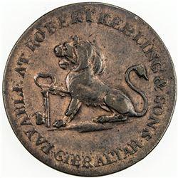 GIBRALTAR: George III, 1760-1820, AE quarto, 1810. VF-EF