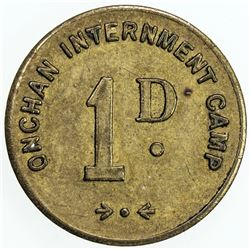 ISLE OF MAN: penny token (2.73g), ND (1941). EF