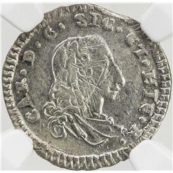 ITALIAN STATES: SICILY: Carlo III, 1734-1759, AR 1/2 tari, 1751. NGC AU58