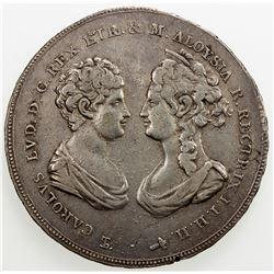 ITALIAN STATES: TUSCANY: Charles Louis, 1803-1807, AR francescone, 1807. VF-EF