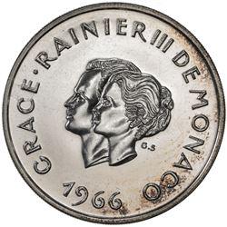 MONACO: AR 10 francs, 1966. UNC