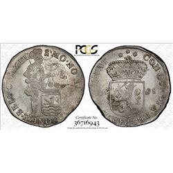 NETHERLANDS: ZEELAND: Dutch Republic, AR ducat, 1698. PCGS MS62