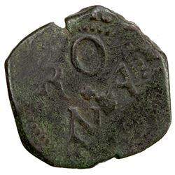 SPAIN: ORAN: Felipe III, 1598-1621, AE 4 maravedis, ND [1618]. F