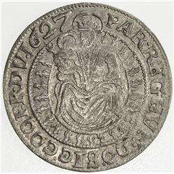 TRANSYLVANIA: Gabriel Bethlen, 1613-1629, AR groschen, Nagybanya, 1627-NB. VF-EF
