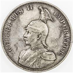GERMAN EAST AFRICA: Wilhelm II, 1888-1918, AR 2 rupien, 1893. VF