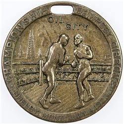UNITED STATES:, 1923 AE medal (12.91g). VG-F