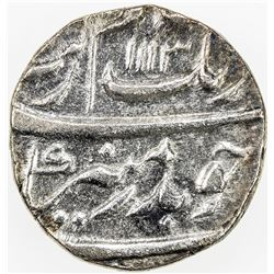MUGHAL: Aurangzeb, 1658-1707, AR 1/2 rupee, Surat, AH1113 year 45. EF