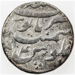 MUGHAL: Aurangzeb, 1658-1707, AR rupee, Patna, AH1071 year 4. F-VF
