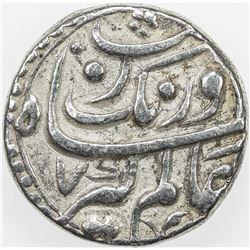 MUGHAL: Aurangzeb, 1658-1707, AR rupee, Bhakkar, AH1074 year 7. VF-EF