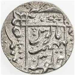 MUGHAL: Aurangzeb, 1658-1707, AR rupee, Junagadh, year 9. EF-AU