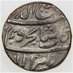 MUGHAL: Rafi-ud-Darjat, 1719, AR rupee (11.44g), Tatta, year 1 (ahad). F