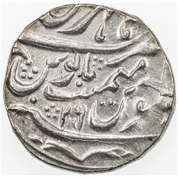 MUGHAL: Shah Alam II, 1759-1806, AR rupee, Hathras, AH119x year 26. EF