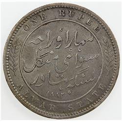ALWAR: Mangal Singh, 1874-1892, AR rupee, 1882