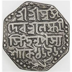 ASSAM: Lakshmi Simha, 1769-1780, AR rupee, SE1696 (1774). F