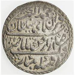 INDORE: Jaswant Rao, 1798-1811, AR nazarana rupee (14.69g), Indore, AH1222. AU