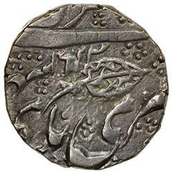 KASHMIR: Ranbir Singh, 1857-1885, AR 1/2 rupee (5.30g), Srinagar, VS1924. VF