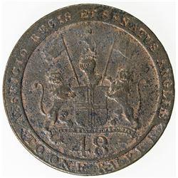 MADRAS PRESIDENCY: AE 1/48 rupee, Soho, 1797. VG-F