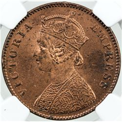 BRITISH INDIA: Victoria, Empress, 1876-1901, AE 1/4 anna, 1901(c)