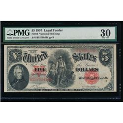 1907 $5 Legal Tender Note PMG 30