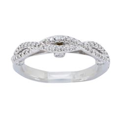 18KT White Gold 0.37ctw Diamond Ring