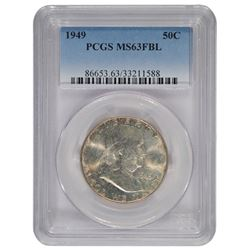 1949 Franklin Half Dollar Coin PCGS MS63FBL