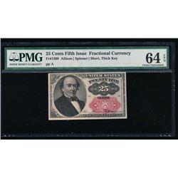 25 Cent Fractional Note PMG 64EPQ