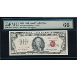 1966 $100 Legal Tender Note PMG 66EPQ