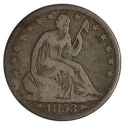 1853-O Seated Liberty Arrows and Rays Half Dollar Coin