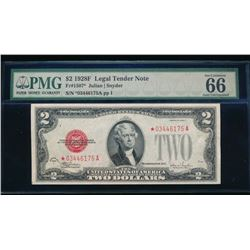 1928F $2 Legal Tender Star Note PMG 66
