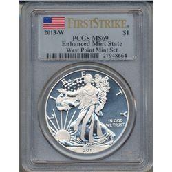 2013-W $1 American Silver Eagle Coin PCGS MS69