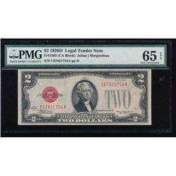 1928D $2 Legal Tender Note PMG 65EPQ