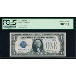 1928A $1 Silver Certificate PCGS 68PPQ