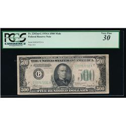 1934A $500 Chicago Federal Reserve Note PCGS 30