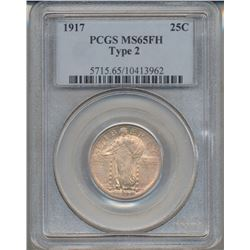 1917 Standing Liberty Quarter Coin PCGS MS65FH