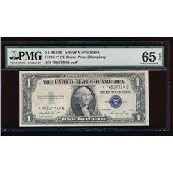 1935E $1 Silver Certificate Star Note PMG 65EPQ