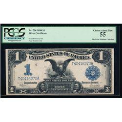 1899 $1 Black Eagle Silver Certificate PCGS 55
