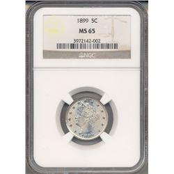 1899 Liberty Head Nickel NGC MS65