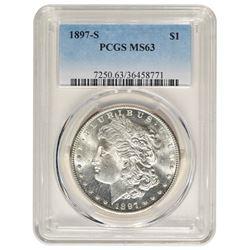 1897-S $1 Morgan Silver Dollar Coin PCGS MS63