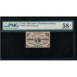 3 Cent Fractional Note PMG 58EPQ