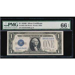 1928B $1 Silver Certificate PMG 66EPQ