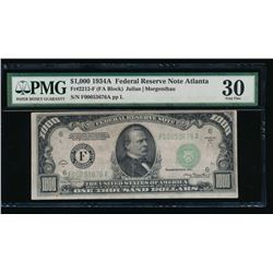 1934A $1000 Atlanta Federal Reserve Note PMG 30