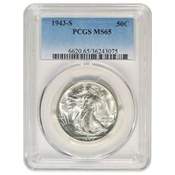 1943-S Walking Liberty Half Dollar PCGS MS65