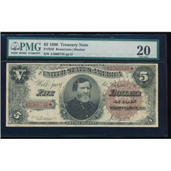 1880 $5 Treasury Note PMG 20