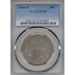 1844-O Liberty Seated Half Dollar Coin PCGS XF40