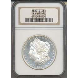 1880-S $1 Morgan Silver Dollar Coin NGC MS65 DPL
