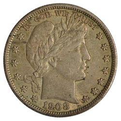 1908 Barber Half Dollar Coin