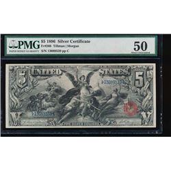 1896 $5 Silver Certificate PMG 50