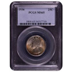 1936 Washington Quarter PCGS MS65